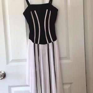 Black white dance costume bodysuit girls large